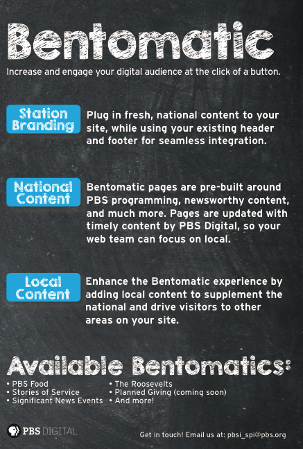what is pbs bentomatic